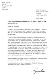 emploi d entretien de bureaux lettre de motivation de nettoyage débutant modèle de lettre