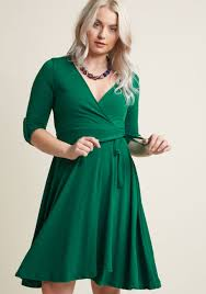 dress image say yes to timeless wrap dress in clover modcloth