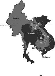 Map Of Se Asia by Fig 3 Map Of Southeast Asia Showing The Percentage Of Soil