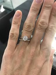 2mm ring if anyone has a less than 2mm engagement ring wedding band show