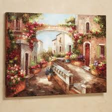 tuscan and italian home decor touch of class early spring canvas art multi jewel