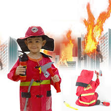 Fireman Costume Aliexpress Com Buy Halloween Costumes For Kids 1set Child
