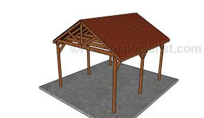 12x14 picnic shelter plans howtospecialist how to build step