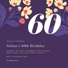 60 letters for 60th birthday customize 924 60th birthday invitation templates online canva