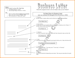 An Example Of Business Letter by Example Of Business Letter With Complete Parts Choice Image