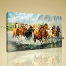 Canvas Prints Home Decor by Framed Artwork Giclee Print Group Horse Canvas Print Home Decor