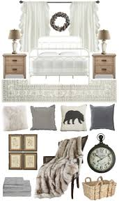 cozy neutral winter bedroom design board love grows wild