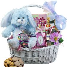 easter gift baskets my special bunny easter gift basket with blue plush