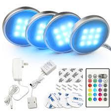 rgb led puck lights bason rgb led under cabinet lighting closet puck lights color