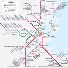 Mbta Map Subway by Boston Ma Light And Heavy Rail Systems