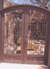 antique wrought iron buckeye gate item 998340 detailed views
