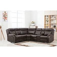 Reclining Sectionals Youll Love Wayfair - Ricardo leather reclining sofa
