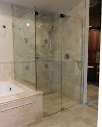 bathroom shower glass panel for contemporary bathroom styles full size of bathroom appealing shower glass panel frameless door for stall neaighboring bathtub at ideas