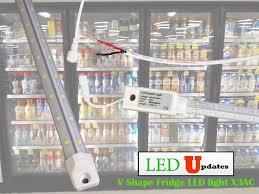 walk in cooler lights fridge cooler led light includes v shape adjustable angle and tri