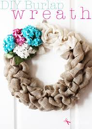 diy burlap wreath tutorial so easy and to make