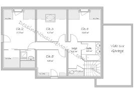 plan maison etage 4 chambres 1 bureau plans de maisons ou villas avec 5 chambres plans maison