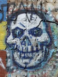 spooky symbols image of grafitti grunge skull creepyhalloweenimages