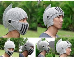 knitted knight hat knitted knight helmet acrylic helmet