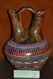 Navajo Wedding Vase American Indian Horse Hair Wedding Vases
