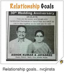Anniversary Meme - relationship goals 30th wedding anniversary 29082015 they are like