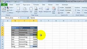 videoexcel how to manually set the print area in excel 2010