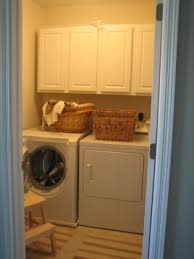 old very small laundry room makeover design with white wooden