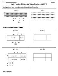 1st 9 weeks 4th grade common core math worksheets bundled by