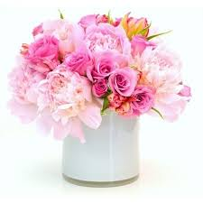 Peony Arrangement Flower Delivery Nyc Pink Roses Peonies Pink Luxury Flowers By