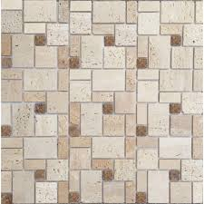 12x12 travertine tile natural stone tile the home depot