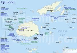 map of the islands fiji map accommodation map of fiji islands