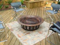 Deck Firepit Pit On The Deck On Pinterest Pits Decks And