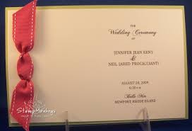 how to create wedding programs stmonkeys handmade wedding programs