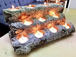 amazon com tespressolife tealight fireplace log candle holder