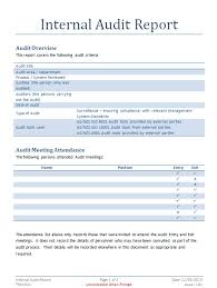 template for audit report audit report template audit documents fully