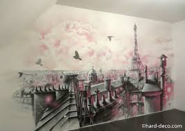 fresque chambre fille chambres de filles décoration graffiti deco