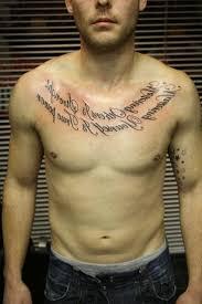 mens chest tattoos writing fantastic