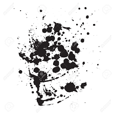 ink splash black and white vector template royalty free cliparts