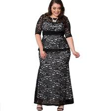 low prices 7xl plus size peplum lace dresses fall spring women