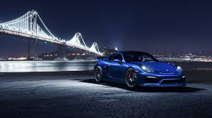 porsche night blue car sports car super car road porsche porsche cayman gt4