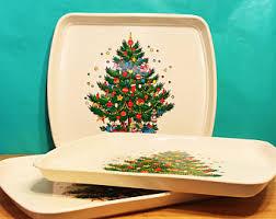 holiday serving tray etsy