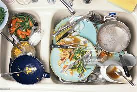 Dirty Dishes In Kitchen Sink Stock Photo Getty Images - Dirty kitchen sink
