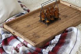 large wooden tray for ottoman