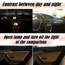 cube cars inside car atmosphere light flexible neon light el wire interior light