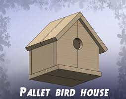 Easy Inexpensive Wood Projects For Beginners by Pallet Bird House 5 Steps