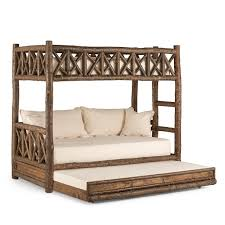 Bunk Beds Trundle Rustic Bunk Bed With Trundle La Lune Collection