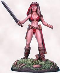 amazon warrior female amazon warrior with sword miniature lines