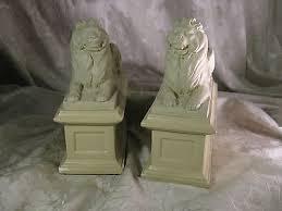 lion bookends 1965 amr alva museum replica lion bookends 80 00 picclick