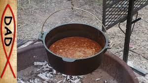 easy camping recipes dutch oven chili youtube