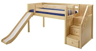 Bunk Beds With Slide And Stairs Maxtrix Low Loft Bed W Staircase On End Slide