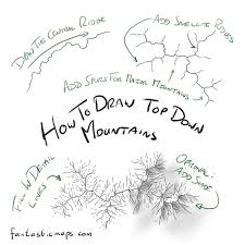 how to draw a map how to draw top mountains on a map fantastic maps